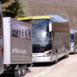 Autobuses en la carretera