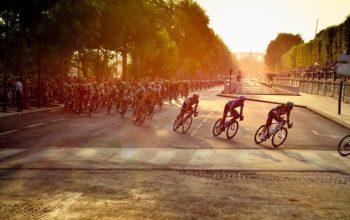 Ciclistas en una carrera