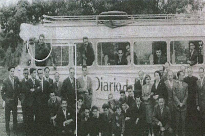 Foto antigua sacada de un periódico